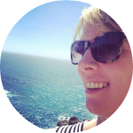 Meagan selfie ocean round