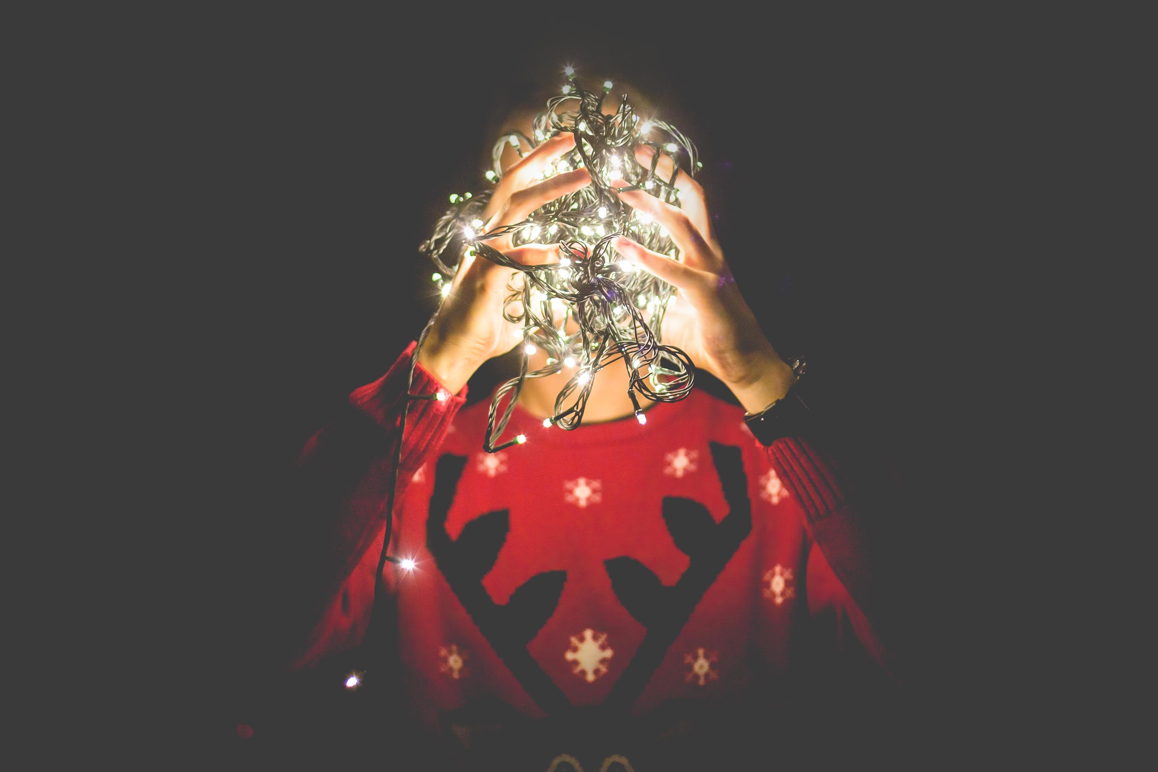 tangled-christmas-lights-instead-of-my-head-picjumbo-com