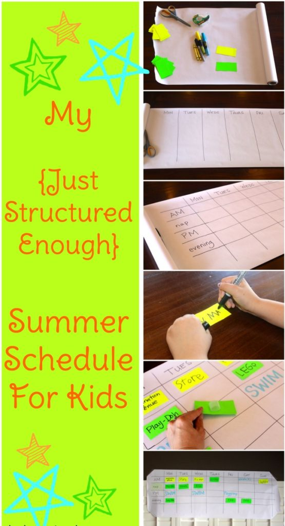 a just structured enough summer schedule for kids life listened